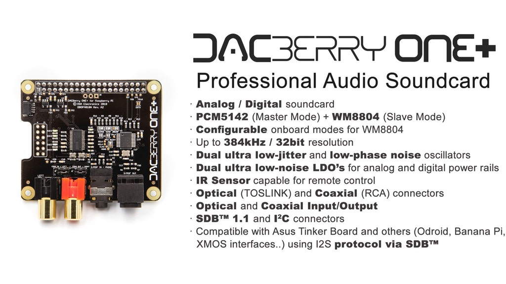 DACBerry ONE+ Brings High-Quality Audio to Your Raspberry Pi