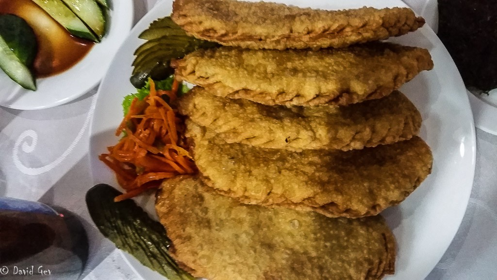 Khuushuur Pancacke filled with Ground Mutton and Onion