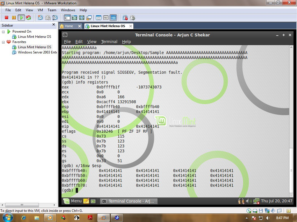 Usage of GDB and Objdump in Exploit Development — A hands on