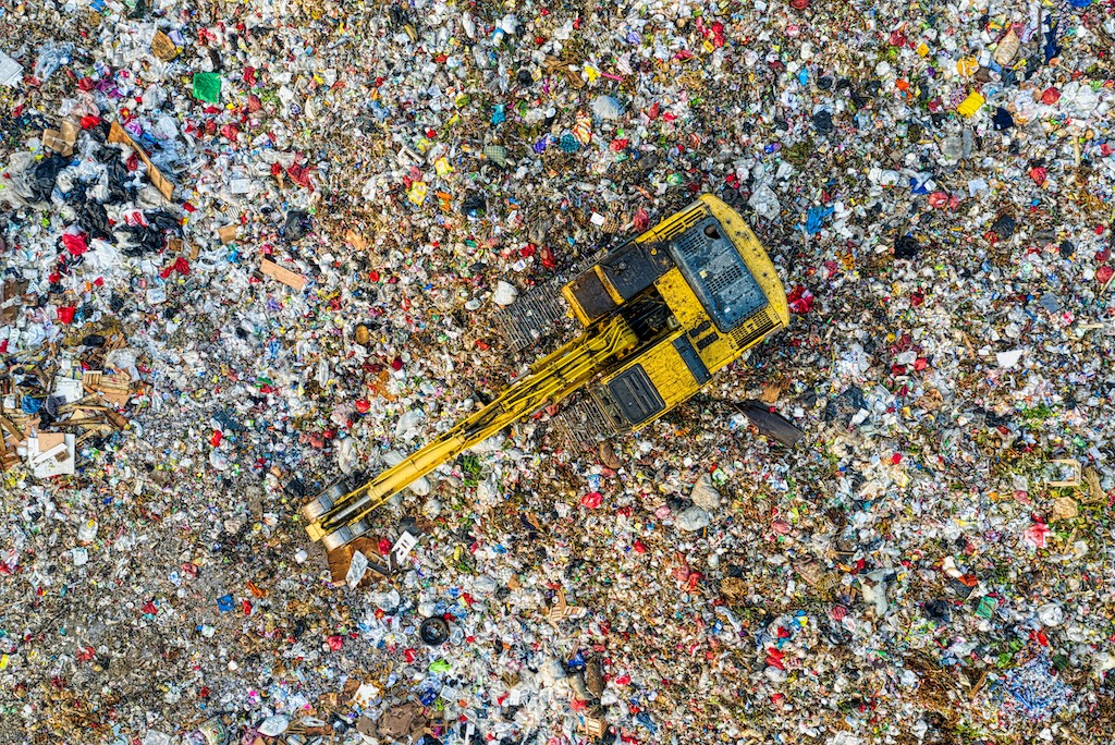 Bird's Eye View Of Landfill During Daytime. Photo by Tom Fisk from Pexels
