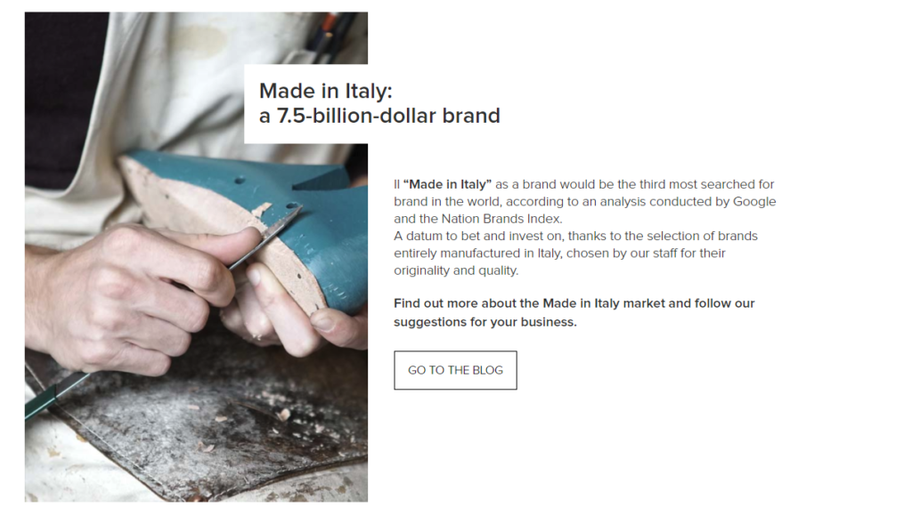 DISCOVER ON OUR SITE THE NEW SHOWCASE DEDICATED TO MADE IN ITALY