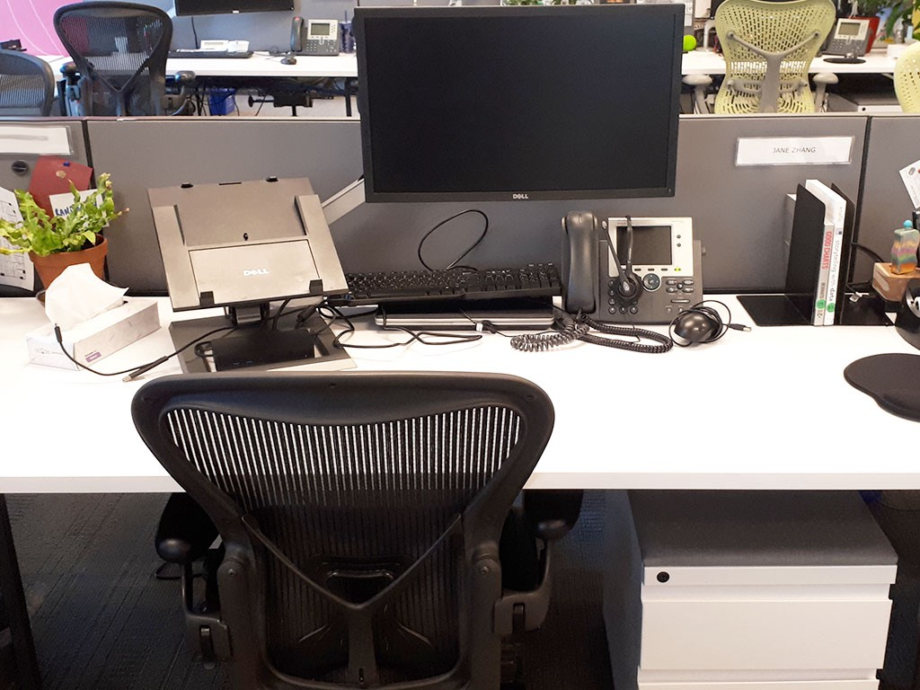 Image of my desk when I worked at Kantar. I took the photo on my last day there.