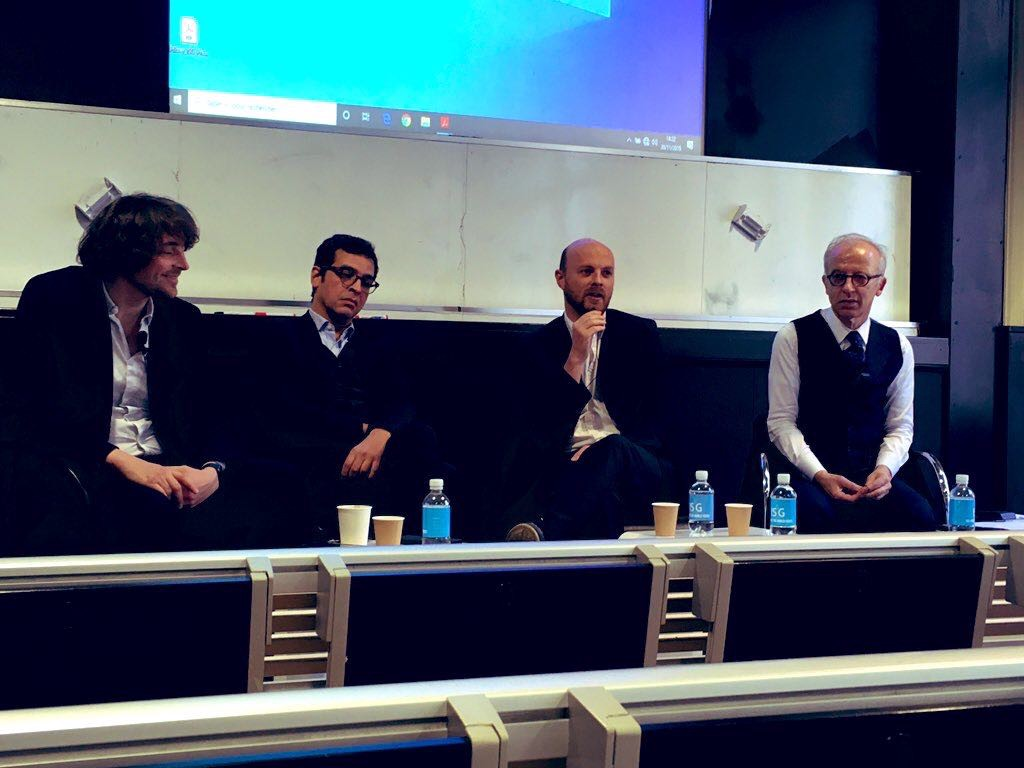 ARK Ecosystem President FX Thoorens on a blockchain and cryptocurrency panel at a business school in Paris.