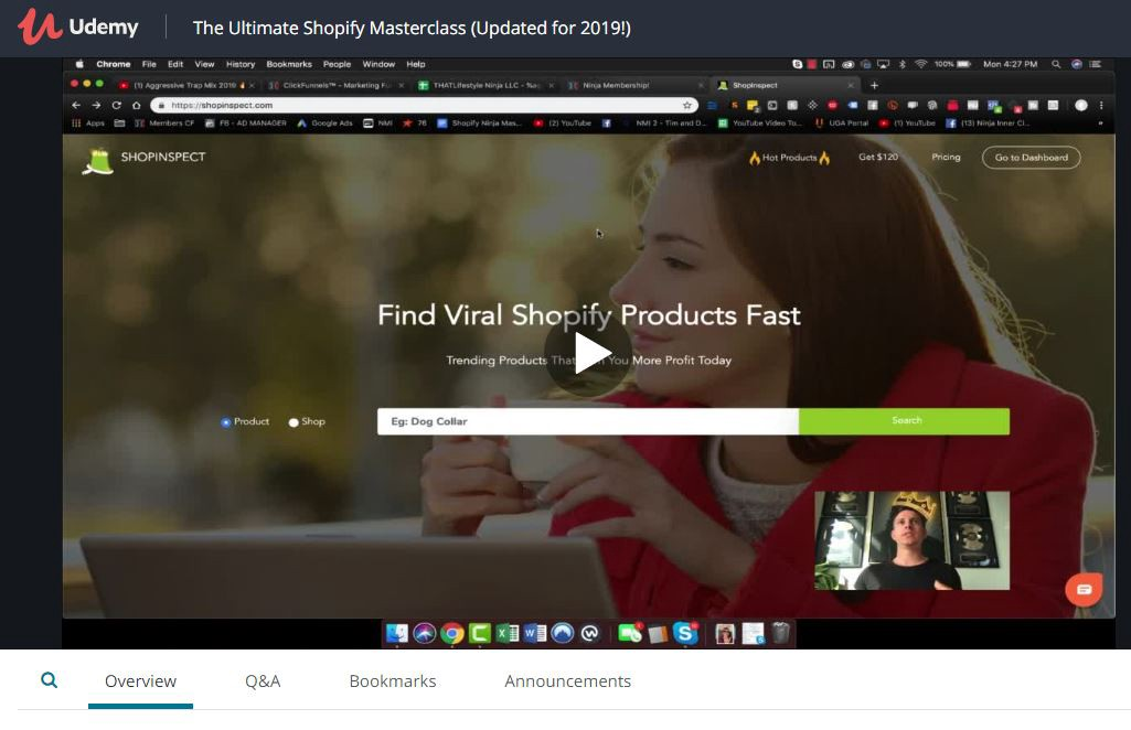 Kevin David course- The ultimate shopify masterclass