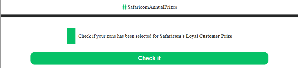 Hoax This Website Claiming That Safaricom Is Giving Cash Gifts To Subscribers Is A Scam By Pesacheck Sep 2020 Pesacheck