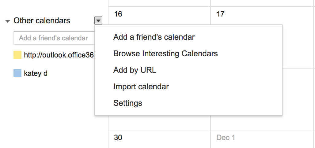 How to Share Outlook Office365's Calendar with Google Calendar
