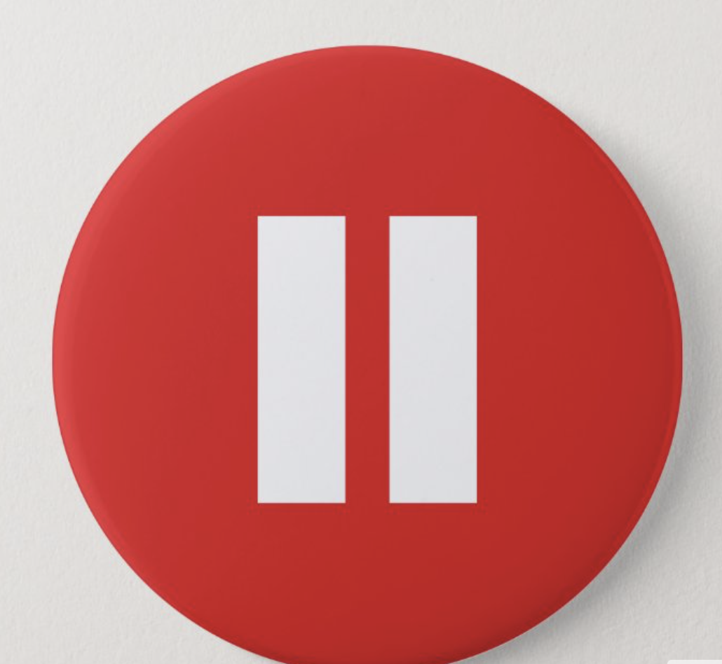 """Red """"pause"""" button"""