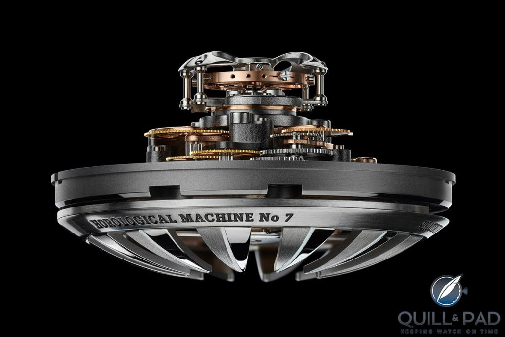 Concentric vertical architecture of the MB&F HM7 movement