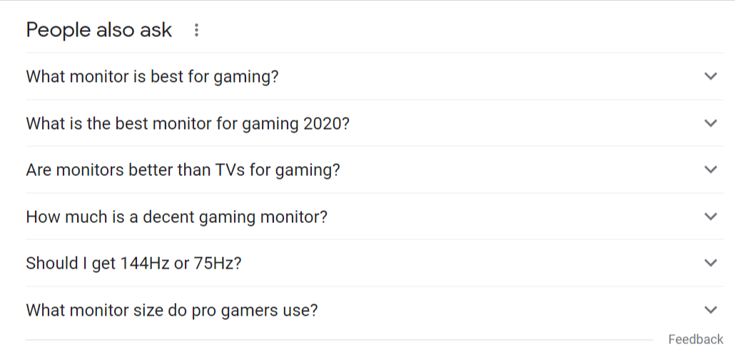 people also ask gaming monitor questions