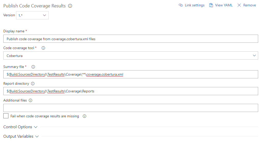 Code Coverage in VSTS with xUnit, Coverlet and ReportGenerator
