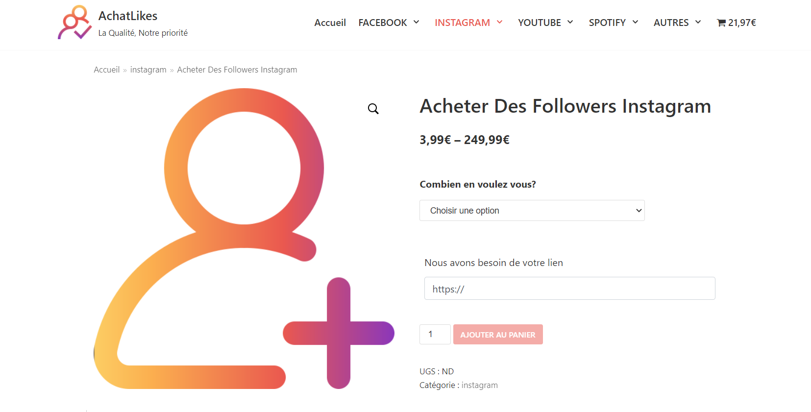 acheter follower instagram actif