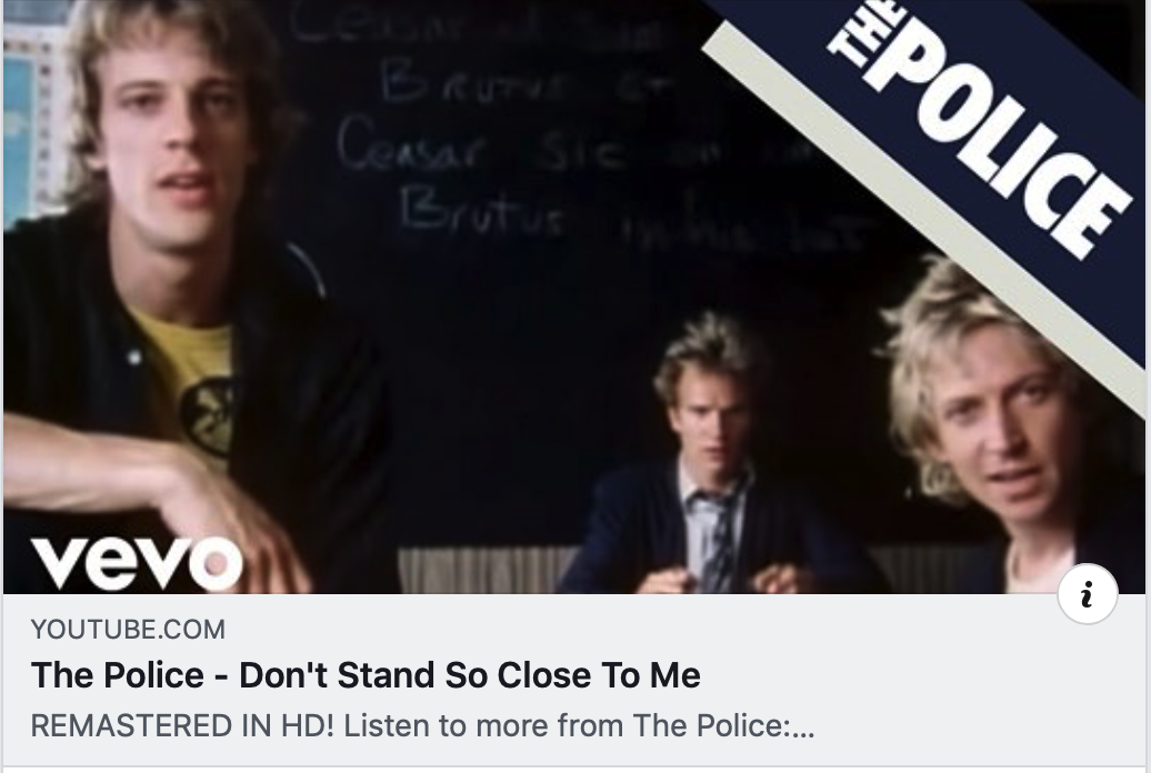 Image of three twenty-something blond rock stars, members of the rock band, the Police.
