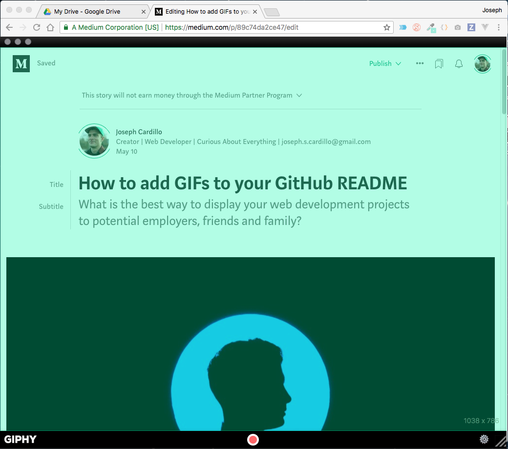 How to add GIFs to your GitHub README - Joe Cardillo - Medium
