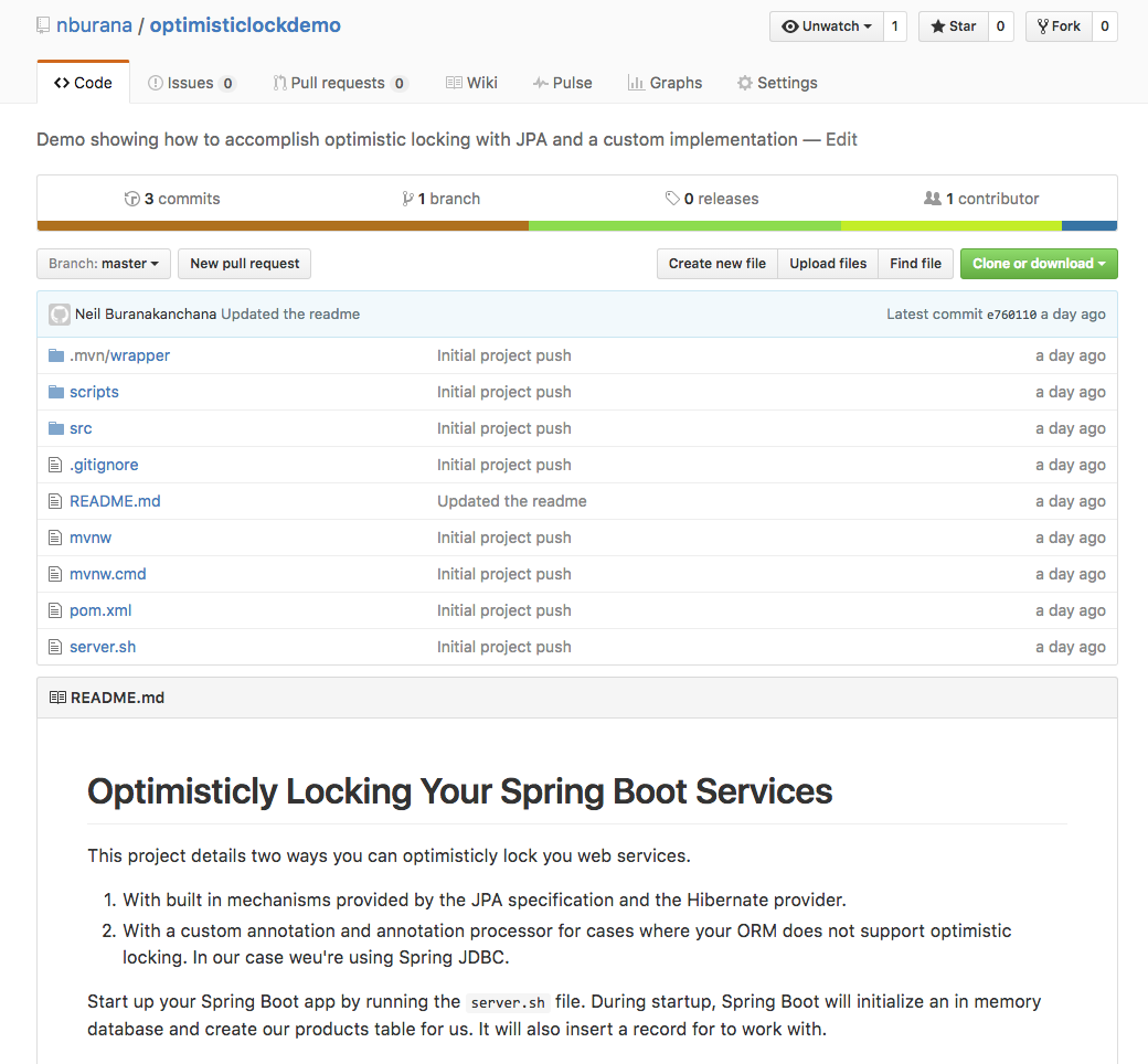 Optimistically Locking Your Spring Boot Web Services