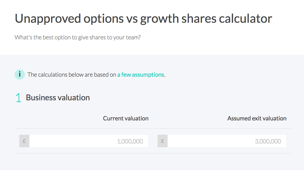 Should I Use Unapproved Share Options Or Growth Shares This Calculator Can Tell You By Simon Telling Vestd Blog Medium