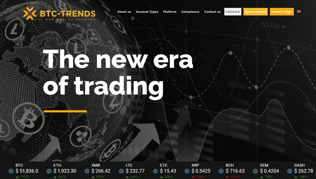 BTC Trends website