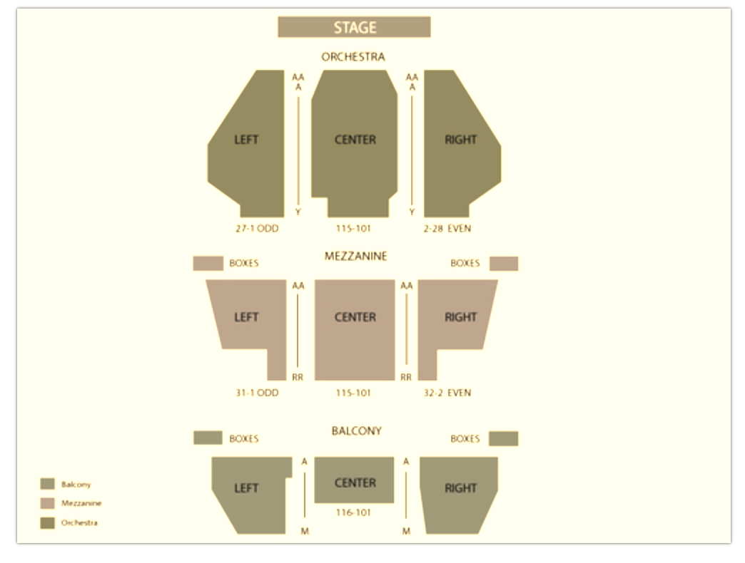 Aladdin The Musical Seating Chart (New Amsterdam Theatre)