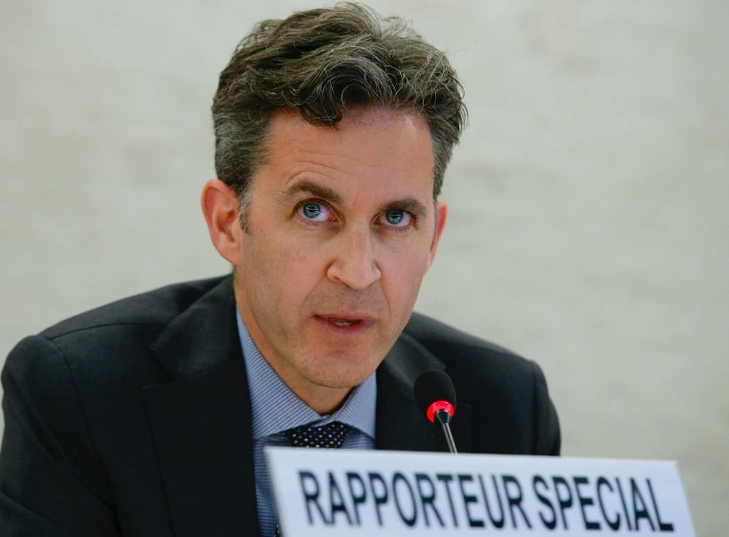 David Kaye, the UN special rapporteur on the right to freedom of opinion and expression