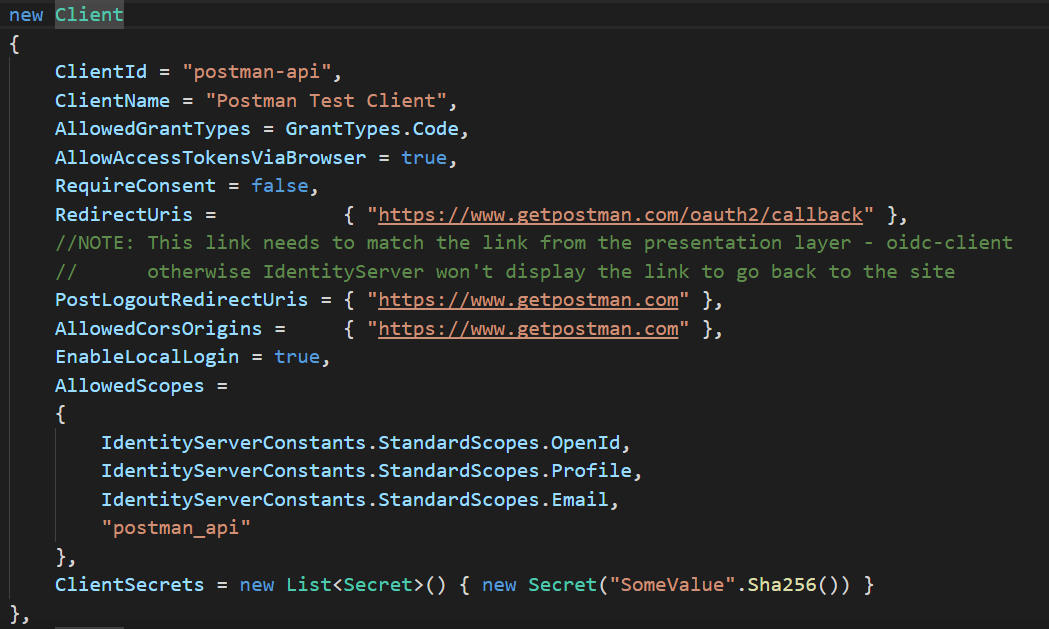 Testing your ASP NET Core WebApi secured with