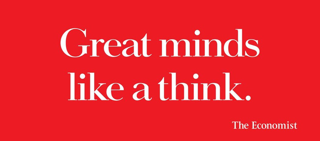 Brand  campaign from the economist achieving great ROI