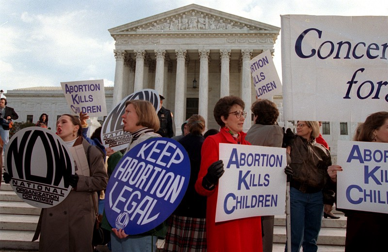 Image result for u.s. supreme court legalized abortion in 1973