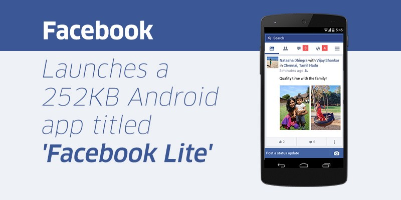 Facebook Lite is not downloadable app comes message
