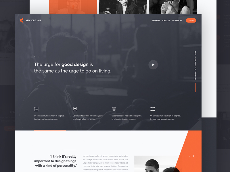 Landing Page Inspiration January 2017 By Collect Ui Collect Ui Design Ui Ux Inspiration Blog Medium