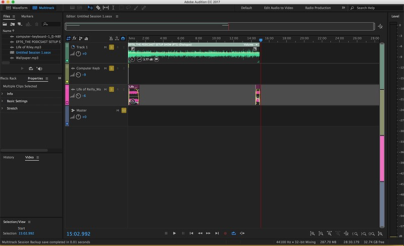 132: Quick Tip: Adobe Audition Multitrack Organization