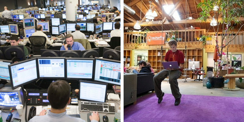 Who has more job security: a banker or a startup employee?