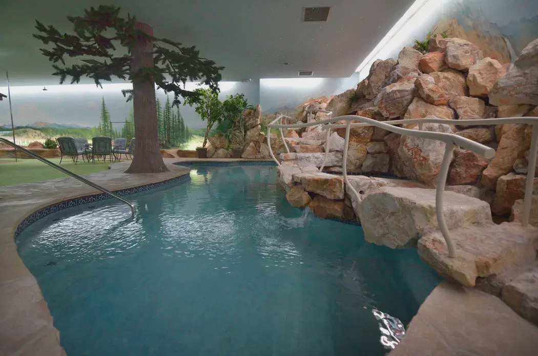 A photo of the Underground House pool.