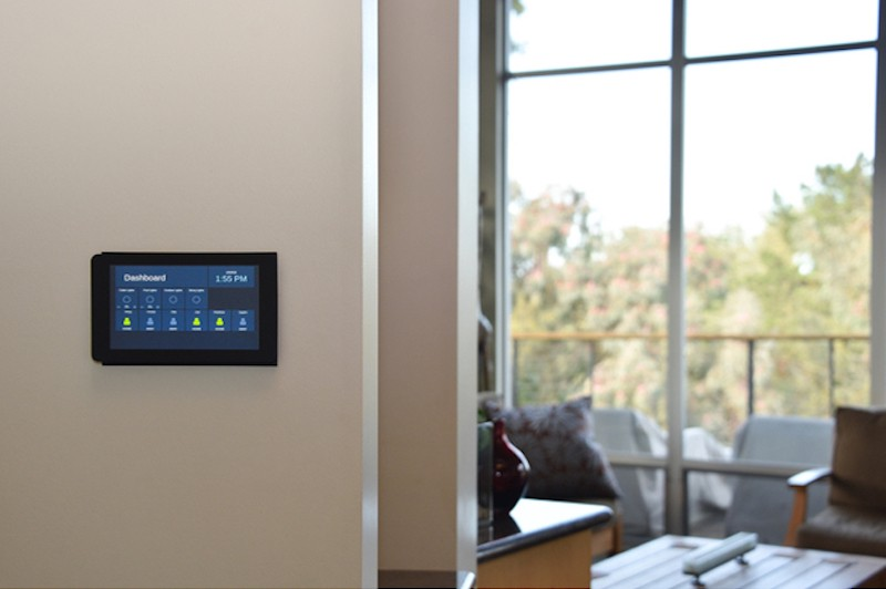 Flush-Mounted Raspberry Pi Home Automation Touchscreen