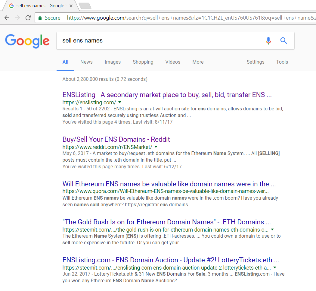 How to resell your ENS Name - enslisting - Medium