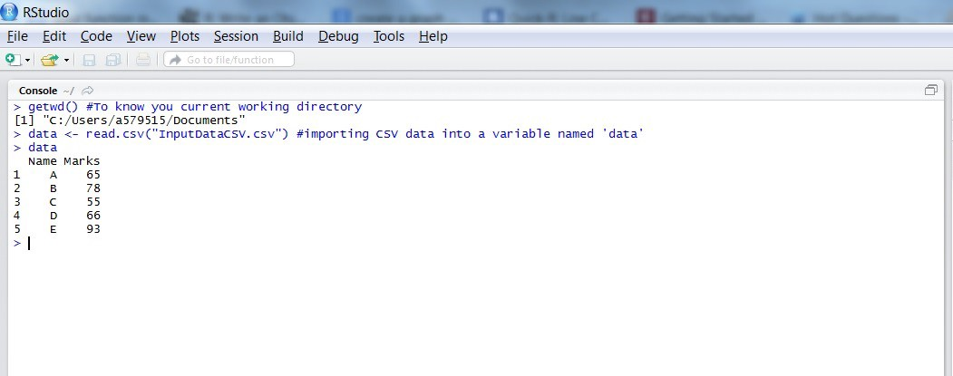 Importing Data Into R from a CSV File and creating a Chart