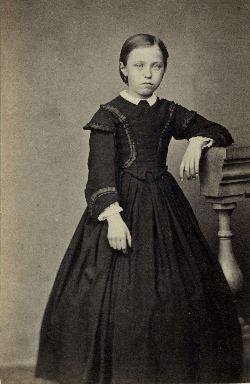 Undated photograph of a young British girl