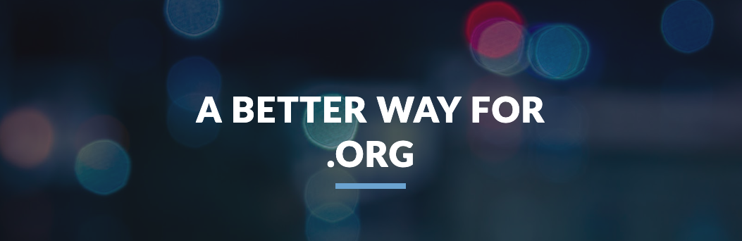 A better way for.org