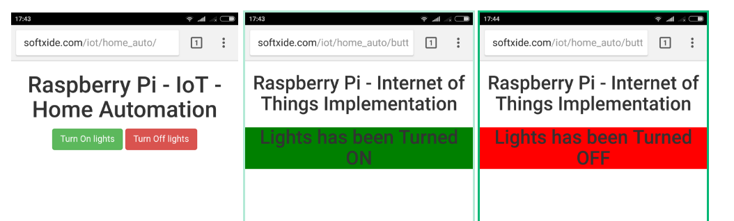 Remote Control RaspberryPi LED's from Web Browser UI