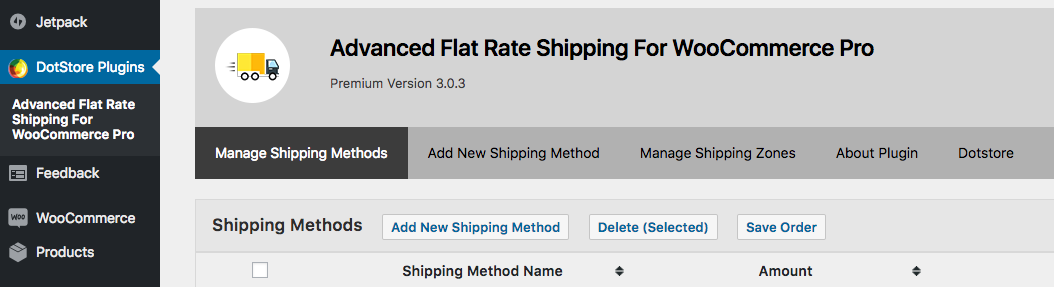 How do i set up advance flat rate shipping method in