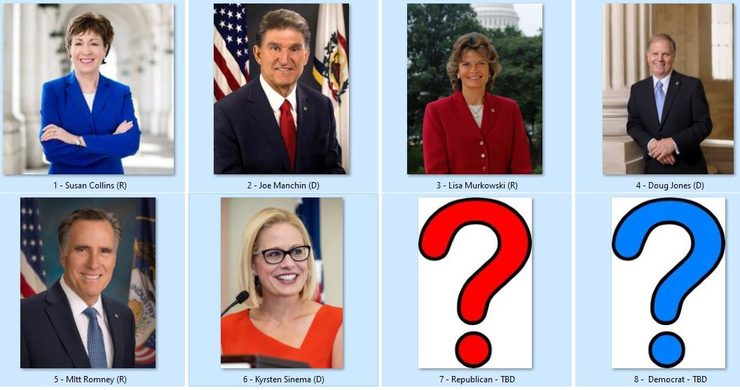 Moderate bipartisan Senators who could save the impeachment trial credibility