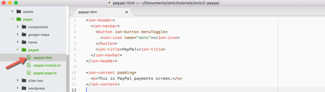 Adding Paypal payments to your Ionic 2 application - Appseed