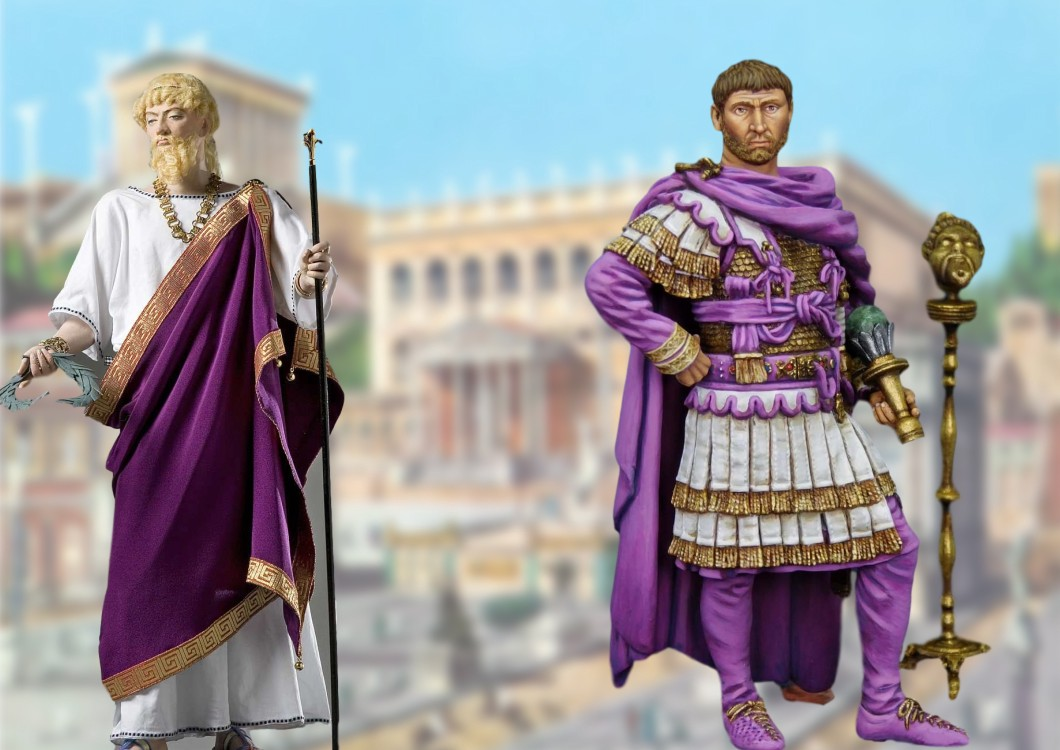 roman purple, roman elites