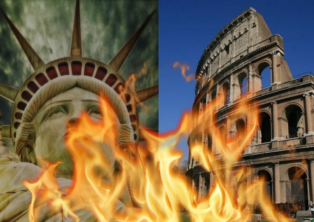 America collapsing and burning like Ancient Rome