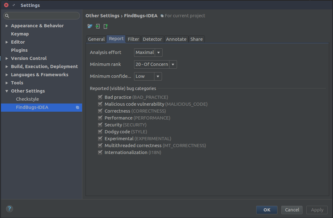 How to configure CheckStyle and Findbugs plugins to IntelliJ