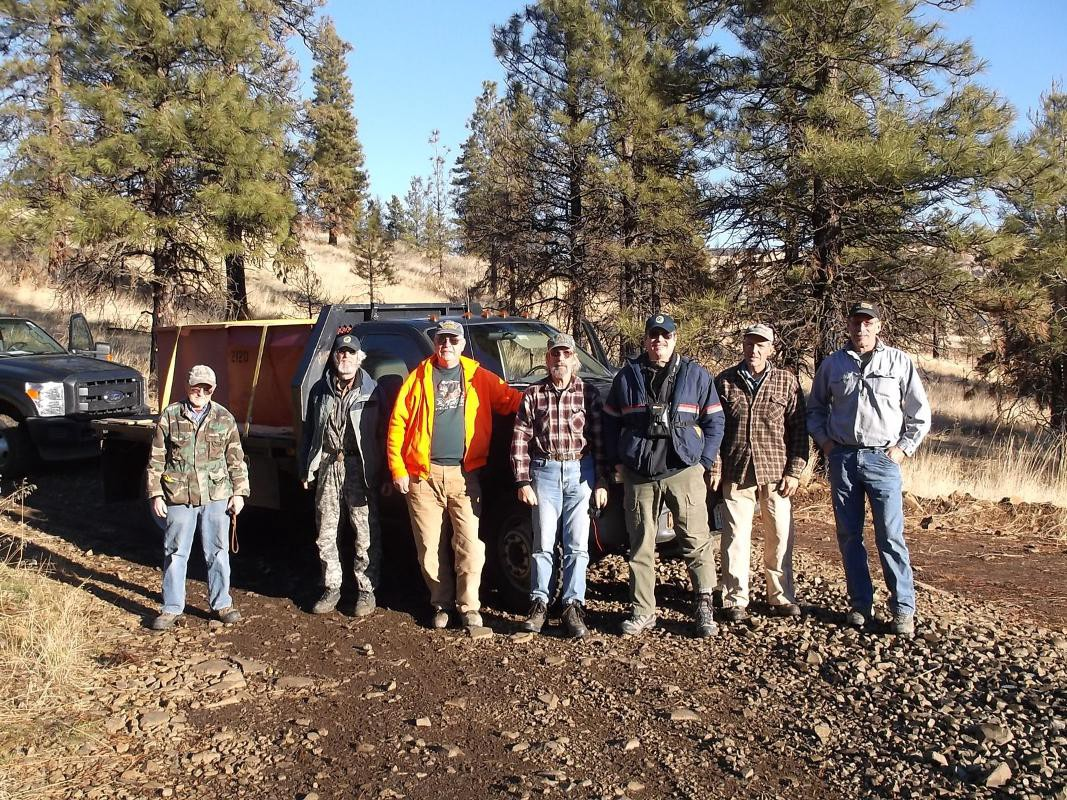 Members of the Wenatchee Sportsmen's Association pose for a photo after completing a project.