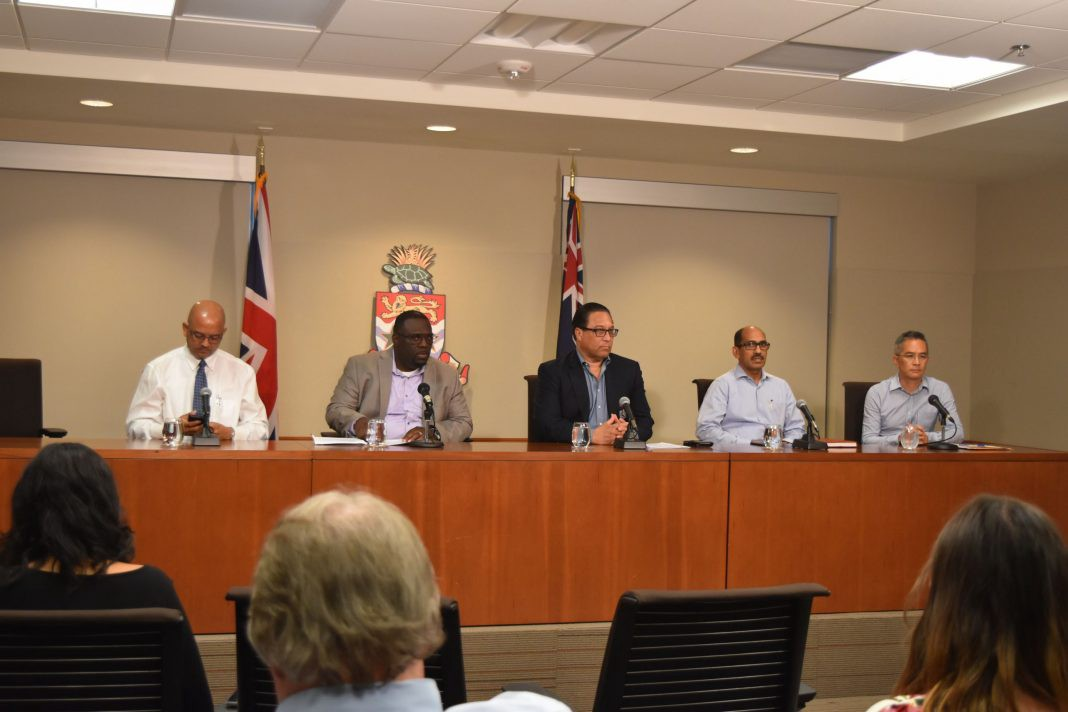 Coronavirus press conference given by Alden McLaughlin in the Cayman Islands March 2020