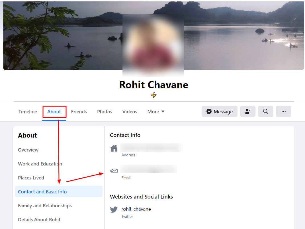 How to Find an Email Address from Facebook