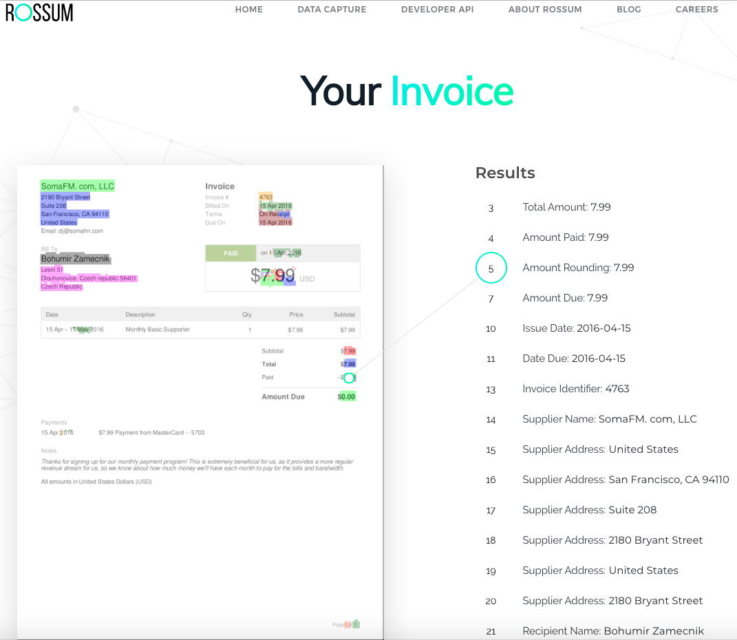 Extracting invoices using AI in a few lines of code