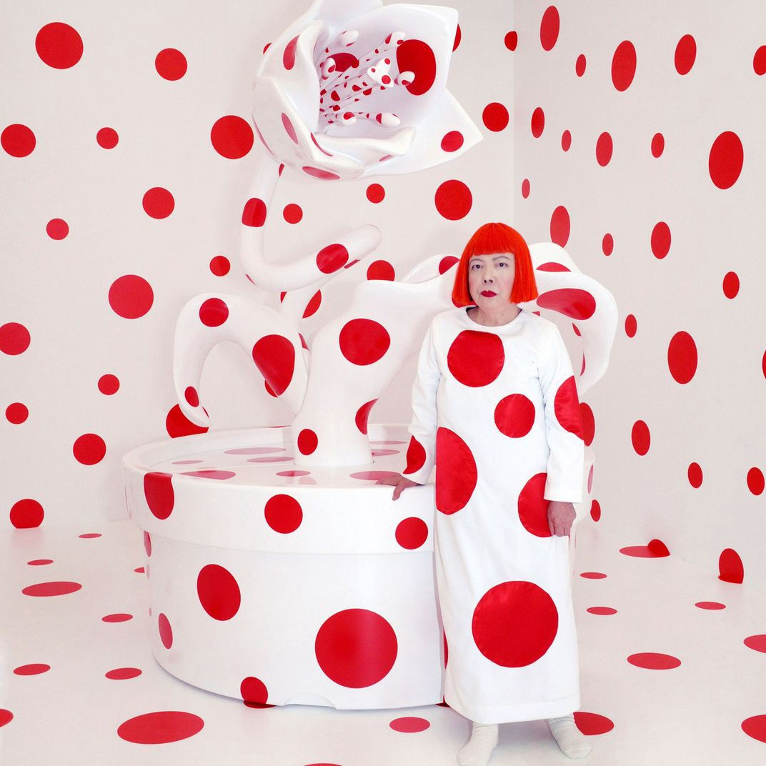 Yayoi Kusama, With All My Love For The Tulips, I Pray Forever, Mixed media,2011