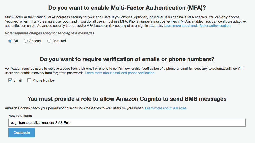Developing Authentication with Cognito User Pool and