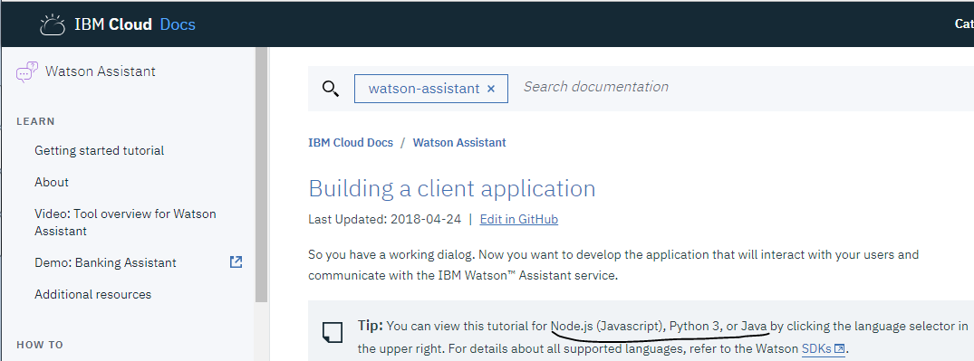 Playing with IBM Watson Web Services - Chatbots Life