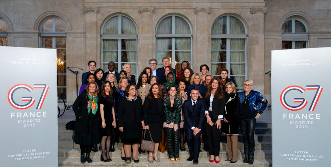 Group photo of the 32 members of the G7 Gender Equality Advisory Council in Biarritz, France in August of this year.